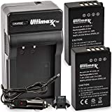 Ultimaxx AC/DC Rapid Home & Travel Charger with 2X EN-EL20 Extended Life Battery (1500mAh / 7.4V / 11.1Wh) for Nikon Coolpix P1000, DL24-500, Coolpix A, 1 AW1, 1 J1, 1 J2, 1 J3, 1 S1, 1 V3
