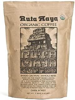Ruta Maya Organic Coffee Dark Roast Whole Bean 2 Count - 2.2 Lbs. Each