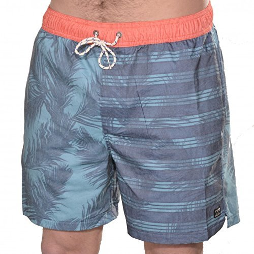 "G.S.M. Europe Billabong Short de Bain Gemini Layback 16 "" M Acier"