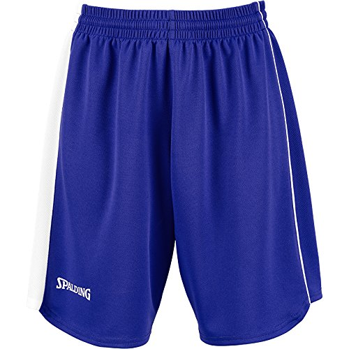 Spalding 4her II Shorts De Equipaciones, Mujer, Azul Royal/Blanco, XXXL