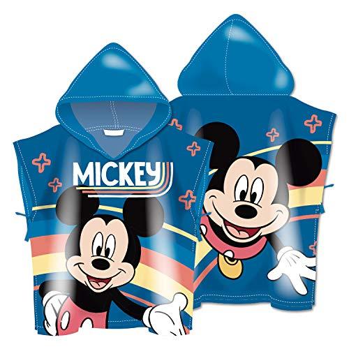 ARDITEX WD13618 Poncho de Microfibra con Capucha de 55X55cm de Disney-Mickey