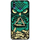 beyouniq abstract angry owl design printed slim mobile back cover back case compatible for redmi note 7 pro for (boys/girls) multi-coloured