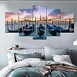 ganlanshu Pintura sin Marco Nordic Venus Seascape Poster Mural Bed Room decoración de la Pared Artista decoración del hogar Lienzo Pintura ZGQ3986 30x40cmx2, 30x60cmx2, 30x80cmx1