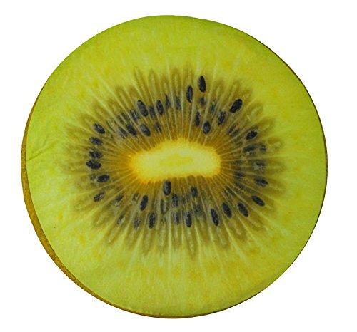 CASA TESSILE Kiwi Cuscino Frutta Rotondo 40 cm.