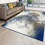 Luxe Weavers Abstract Blue 8x10 Area Rug…