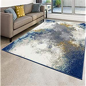 Luxe Weavers Abstract Blue 5×7 Area Rug…