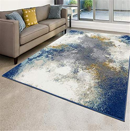 Luxe Weavers Rug – Modern Area Rug - 8445 Abstract Print, Medium Pile, Blue / 5' x 7'
