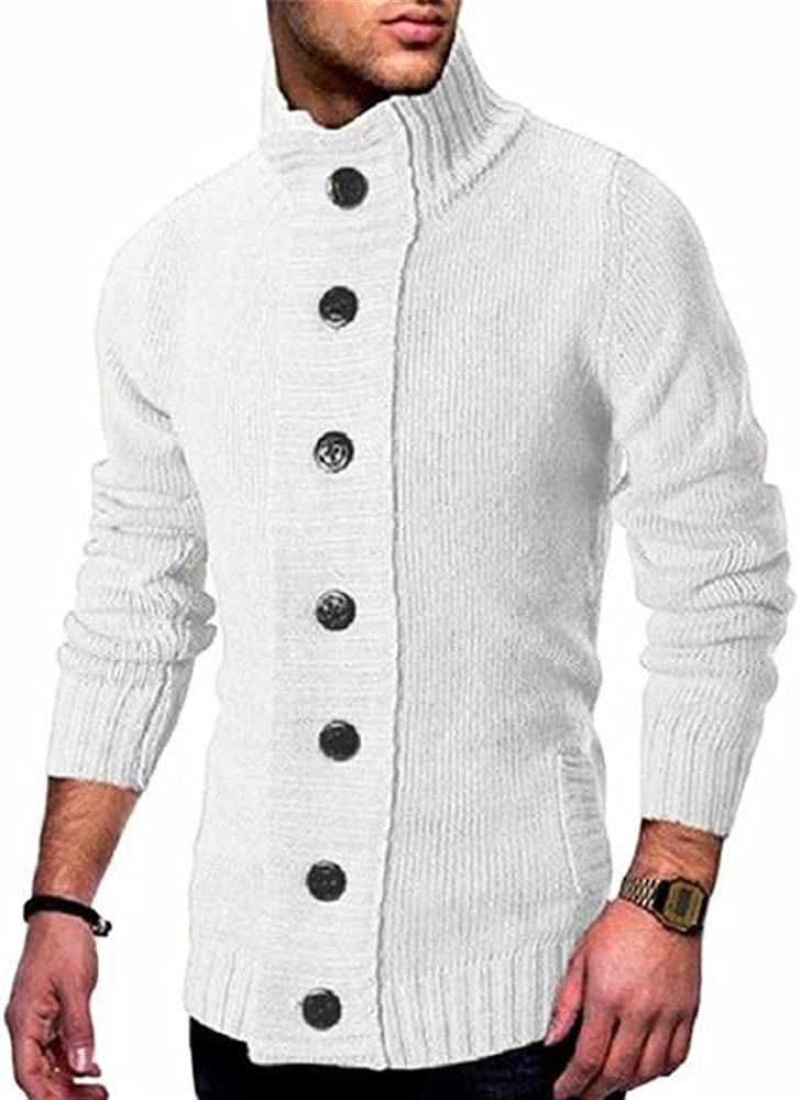 NP Spring Autumn Men's Single Breasted Knitted Sweater