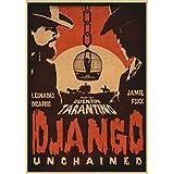 JQQBL Plakat Filmplakate Django Unchained Retro Poster