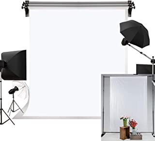 Kate 5x7ft/1.5m(W) x2.2m(H) White Fabric Backdrop Zoom Background Chromakey Backdrop Pure White Screen Photography Props