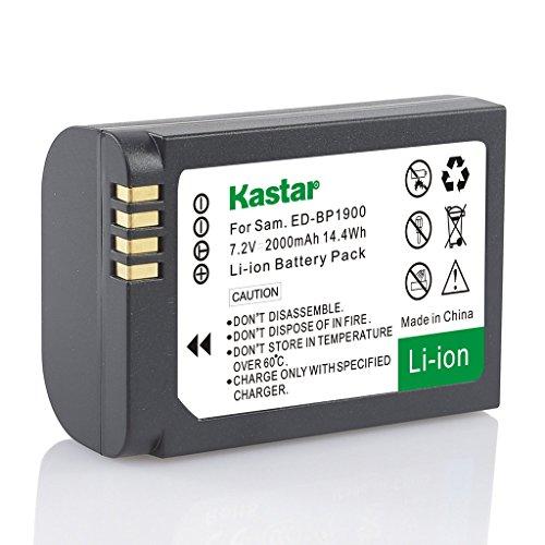Kastar Battery (1-Pack) for Samsung ED-BP1900, BP1900 Battery and Samsung NX1 Smart Wi-Fi 4K Digital Camera
