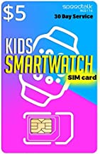Padfender $5 SIM Card for Kids Smart Watch - 3 in 1 SIM Card GSM 2G 3G 4G LTE - Kids Smartwatches Wearables - 30 Day Service