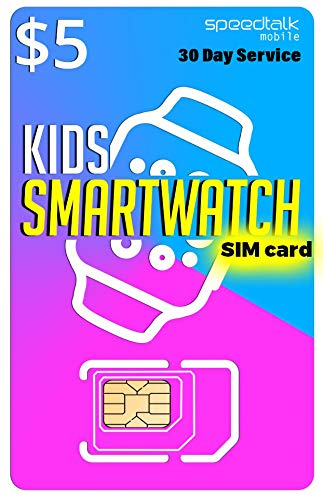 $5 SIM Card for Kids Smart Watch – 3 in 1 SIM Card GSM 4G LTE – Kids Smartwatches Wearables – 30 Day Service
