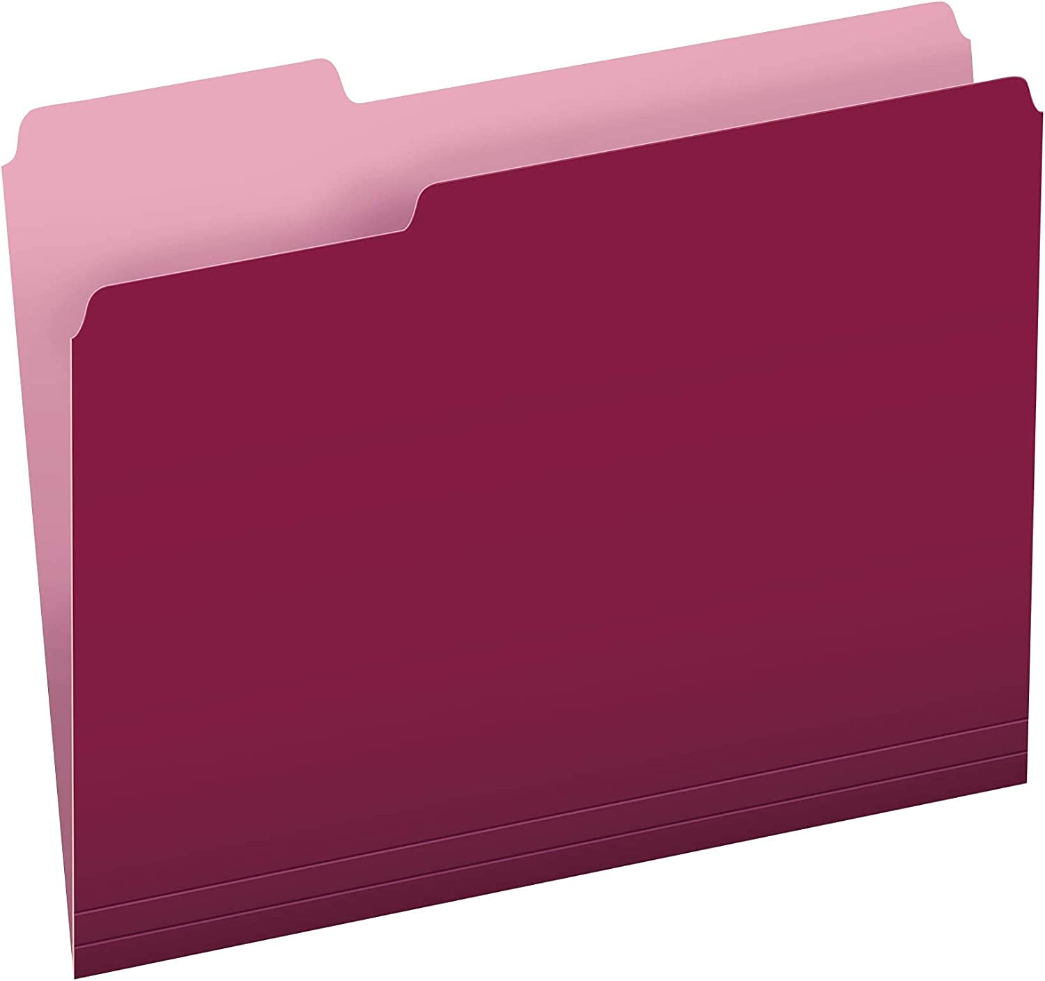 Two-Tone Color File Folders Letter Size 1 Burgundy 100 Max 73% OFF 3 Cut ! Super beauty product restock quality top!