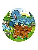 Dekora- Decoracion Tartas de Cumpleaños Infantiles en Disco de Oblea de Dinosaurio-20 cm (145093)