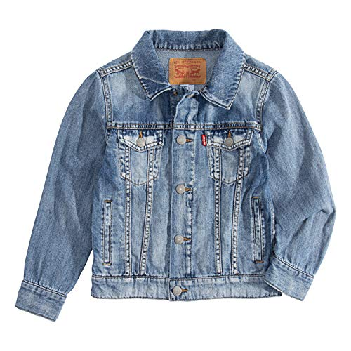 Levi's Boys' Big Denim Trucker Jacket, Jackson, M
