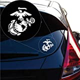 Yoonek Graphics United States Marine USMC Decal Sticker for Car Window, Laptop and More. # 1258 (8' x 7.6', White)