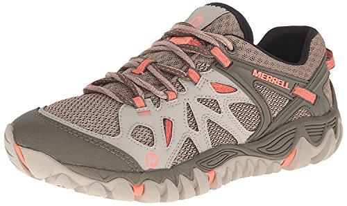 Merrell Women's All Out Blaze Aero Sport Hiking Water Shoe, Grey/Purple, 5 M US