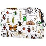 Neceser de viaje de nylon, Dopp Kit de afeitar bolsa de aseo, organizador de artículos de tocador, granja animal verde