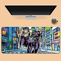 ベーシック マウスパッド Jojos Bizarre Adventure 大型 キーボードパッド 40*90*0.3cm 防水 ズレない-C_800*300*3MM