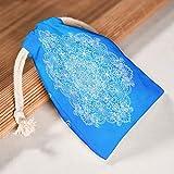 XJJ88 1 für 6 Blaue Mandala-Aufbewahrungstaschen, wiederverwendbar, für Valentinstag, Jahrestag, Geschenkpapier, gemusterte Drucke, Baumwolle, weiß, 12 * 18cm
