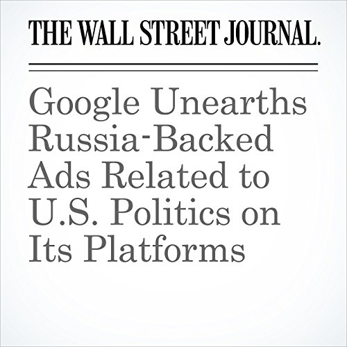 Google Unearths Russia-Backed Ads Related to U.S. Politics on Its Platforms copertina