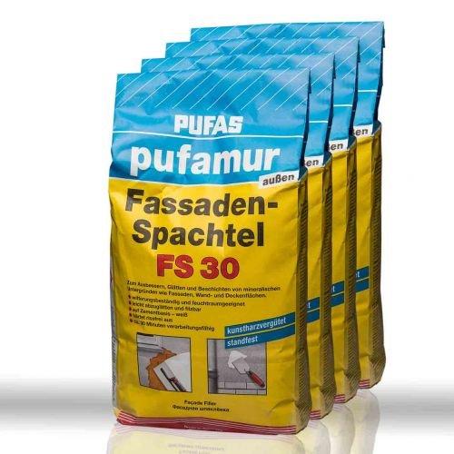 4 x Pufas Pufamur außen Fassaden-Spachtel FS30 5kg