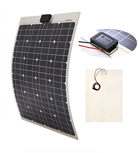 ICO LLC 40W SEMI-FLEXIBLE Mono Panel Solar Cell Panel para yates casa techo RV Camper carga de batería 12V sistema