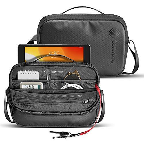 tomtoc Bolsa de Hombro para 7,9' iPad Mini 5/4/3, Bolso Bandolera para Galaxy Tab 8,0, Amazon Fire HD 8, Bolso Crossbody con Organización Ingeniosa para 8' Tableta Accesorios y Artículos Esenciales
