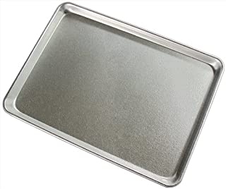 New Star Foodservice 37258 Textured Commercial Sheet Pan Display Tray, Silver Anodized, 13 x 18 inch