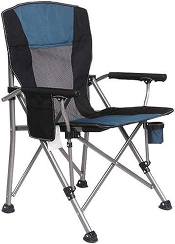 Chaises Pliante Portable Pliante De Plage De Pêche Table De Loisirs De Camping Cadeau (Couleur   bleu, Taille   95  58  58CM)