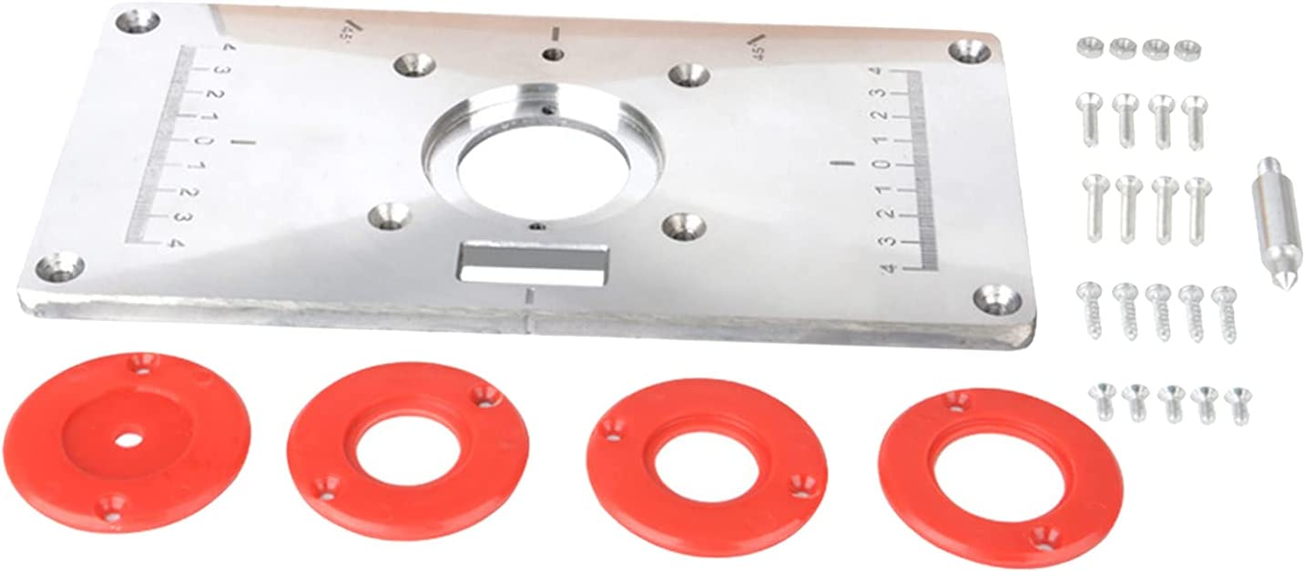 MagiDeal Router Table Save money Insert Plate w Woodwor 4 Direct sale of manufacturer Screws Rings for