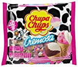 Chupa Chups Lollipops, 40 Candy Suckers for Kids, Cremosa Ice Cream, 2 Assorted Creamy Flavors, for Gifting, Parties, Office, 40 Count