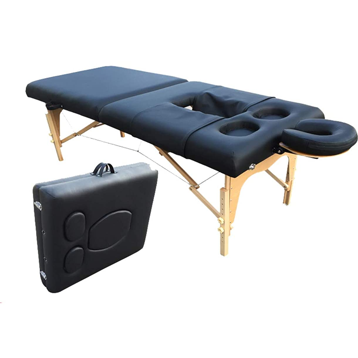 教授残忍な雲品質ポータブルマッサージテーブル&調節可能な胸の穴を持つ折りたたみマッサージベッド、ソファービューティー表ビューティーサロンソファーベッド快適な