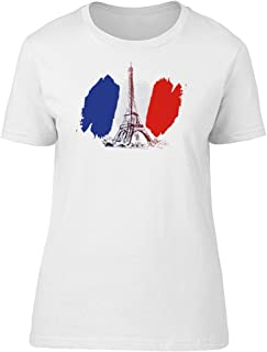 France Flag Grunge Eiffel Tower Tee Women's -Image by Shutterstock