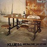 インダストリアル家具 ダイニングテーブル 机 テーブル スツール チェア ダイニングセット 木製 スチール アイアン 鉄 ビンテージ ヴィンテージ RET501BK KLUB14の写真