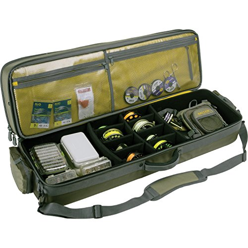 Allen Company Cottonwood Fly Fishing Rod & Gear Bag Case, Hold up to 4 Fishing Rods, Heavy-Duty Honeycomb Frame