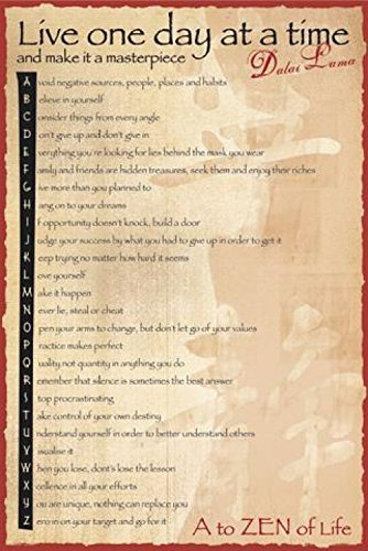 1art1 Buddhismus - Dalai Lama, A to Zen Poster 91 x 61 cm