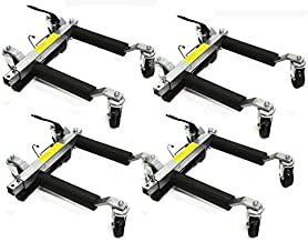 Stark Set of (4) Wheel Dolly Car Skates Vehicle Positioning Hydraulic Tire Jack Truck Rv Trailer Pick Up Dolly Ratcheting Foot Pedal, 1500LBS