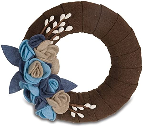 Pavilion Gift 89004 Signs Of Happiness Mocha Wreath 6 Inch