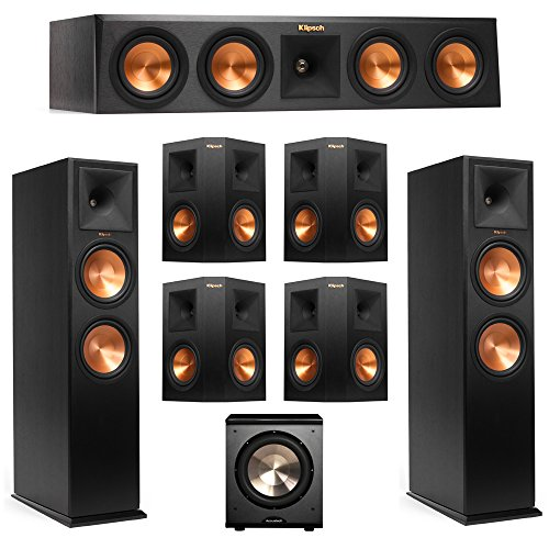 Read About Klipsch 7.1 System with 2 RP-280F Tower Speakers, 1 RP-440C Center Speaker, 4 Klipsch RP-...