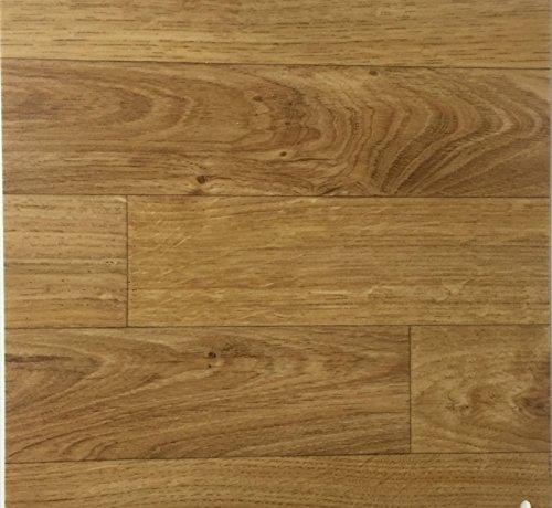 PVC Vinyl-Bodenbelag in Eiche-Honig-Optik | CV PVC-Belag verfügbar in der Breite 400 cm & Länge 600 cm | CV-Boden wird in benötigter Größe als Meterware geliefert | rutschhemmend & robust
