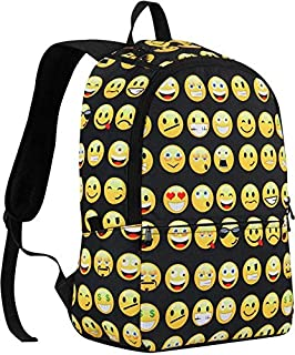 Canvas Backpacks Smiley Emoji Face Printing School Bag For Teenagers Girls and kids Shoulder Bag