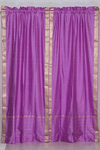 Indian Selections - Cortina transparente con bolsillo para barra de lavanda, diseño...