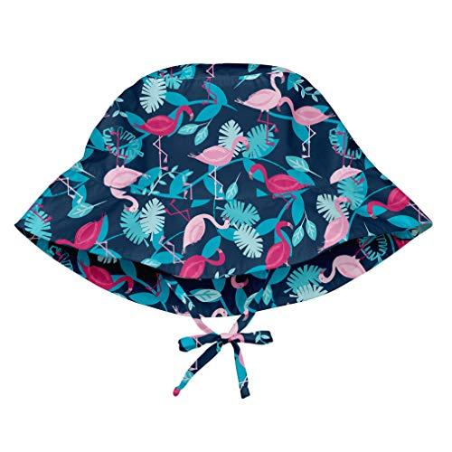 i play. 747161-647-52 Sonnenhut - marine flamingos - 9-18m, blau