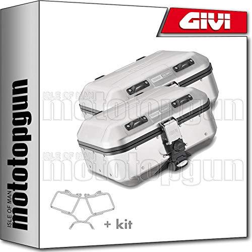givi portamaletas lateral + maletas lateral trekker dolomiti dlm30apack2 compatible con benelli trk 502 x 2019 19