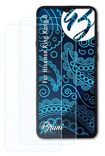 Bruni Schutzfolie kompatibel mit Hisense King Kong 6 Folie, glasklare Bildschirmschutzfolie (2X)