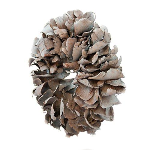 Naturkranz Deko Ø40cm in dunkelgrau, gefertigt aus Palmblättern   Türkranz ganzjährig zum hängen oder als Tischdekoration im Shabby chic Design   Zeitloses Wohnaccessoir als Landhaus Natur-Deko