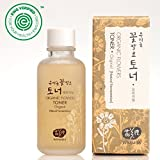 Whamisa Organic Flowers Skin Toner - Original Toner for Face & Body | Natural Hydrating Moisturizer for Dry Sensitive Skin | with Natural Fermented Ingredients 4.05 fl.oz. | EWG Verified