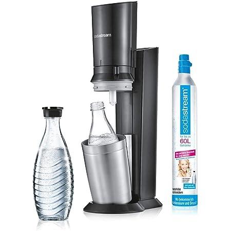 sodastream 1216513490 Crystal 2.0, Machine à Soda et Eau gazeuse, Argent, Titane, 1